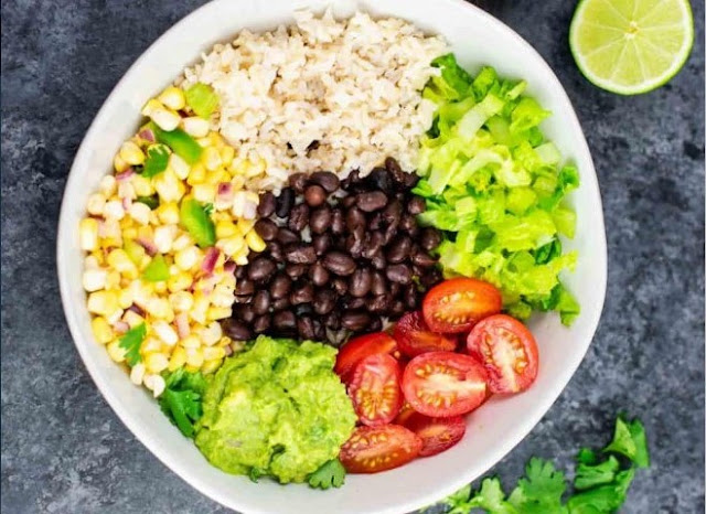 Vegan Burrito Bowl #vegan #dinner
