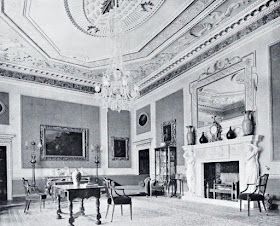 The Saloon (originally the Dining Room), Hatchlands Park,   from The Architecture of Robert and James Adam by AT Bolton (1922)