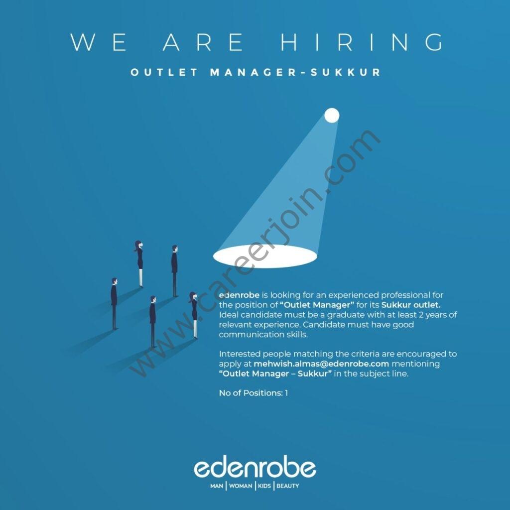 Edenrobe Jobs 2021 in Pakistan