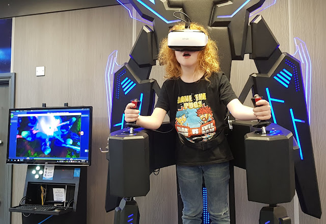 X Gen VR Mech Suit being worn by 9 year old