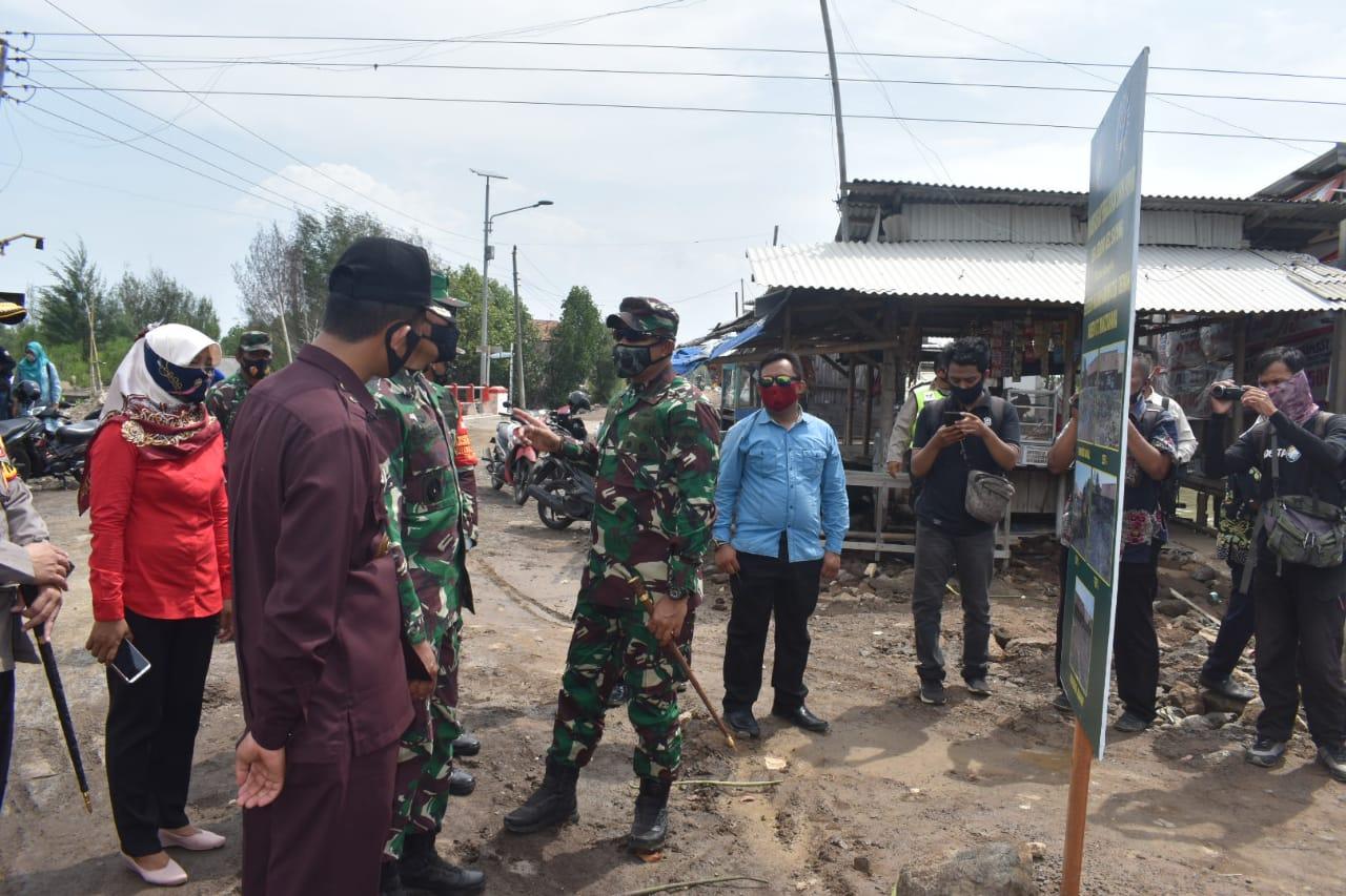 Kasdam IV Diponegoro Tinjau Lokasi Sasaran Serbuan Teritorial Korem 073 Makutarama di Demak