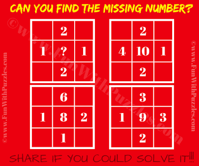 It is maths brain twister puzzle in which your challenge is to find the missing number