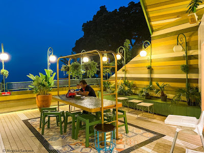 area outdoor di Sky Garden Cafe and Resto by Susan Spa and Resort