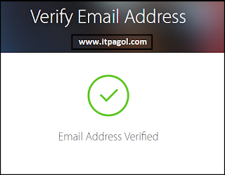Your Email Address Successfully Verified.