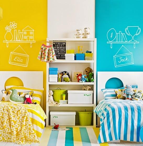 quarto para duas crianças