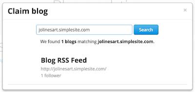 Masukkan lagi URL untuk mengklaim blog di Bloglovin'