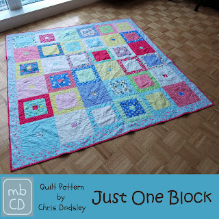 Just One Block Quilt Pattern by www.madebyChrissieD.com