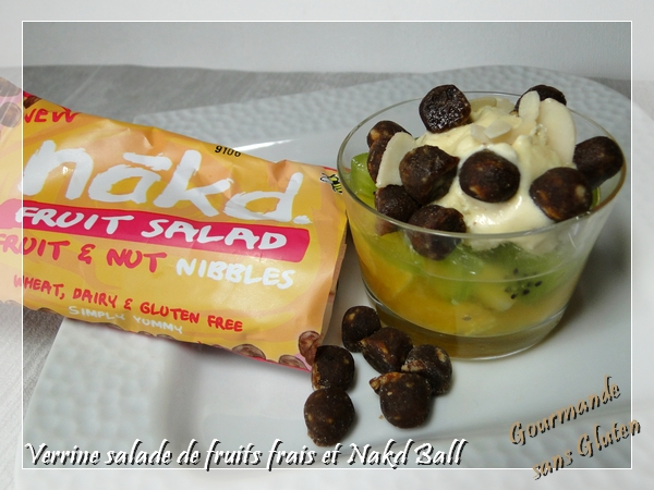 Verrine salade de fruits frais et Nakd Ball