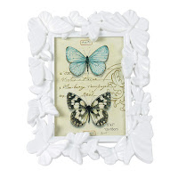 Butterfly Designer Photo Frames for Walls Decoration Tabletop Home Improvement, White