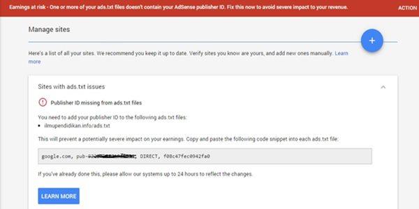 Cara Mengaktifkan Ads.txt Di Blogger Untuk Para Publisher Adsense