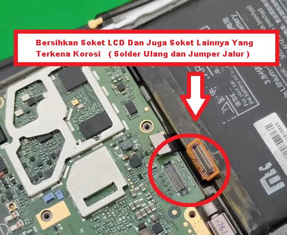 Bersihkan Soket LCD xiaomi redmi 4A