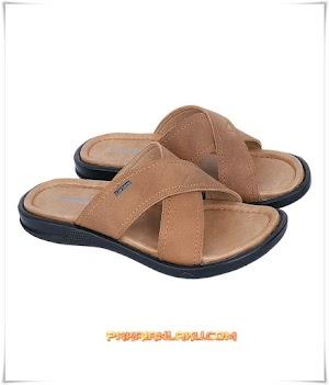 Sandal Casual Pria Elegan Warna Tan
