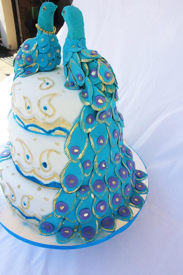 Lulu Belle Cakes Peacock Wedding Cake