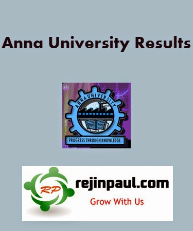 Anna University April May 2014 Results 2nd 4th 6th 8th Semester