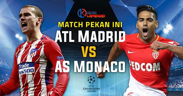 Prediksi Bola Atletico Madrid vs AS Monaco Liga Champions