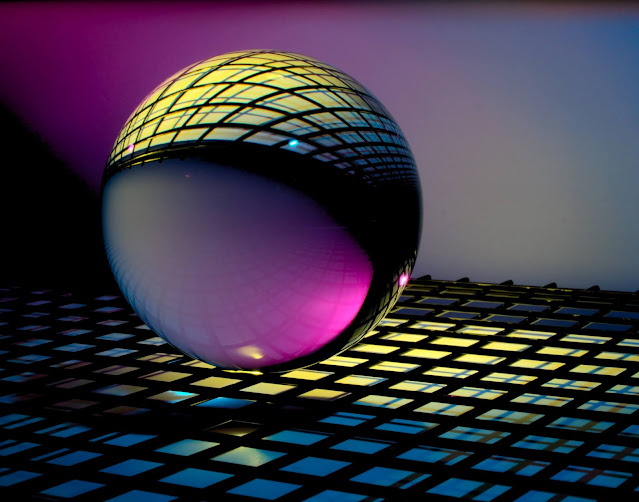 Glass Orb with Patterns