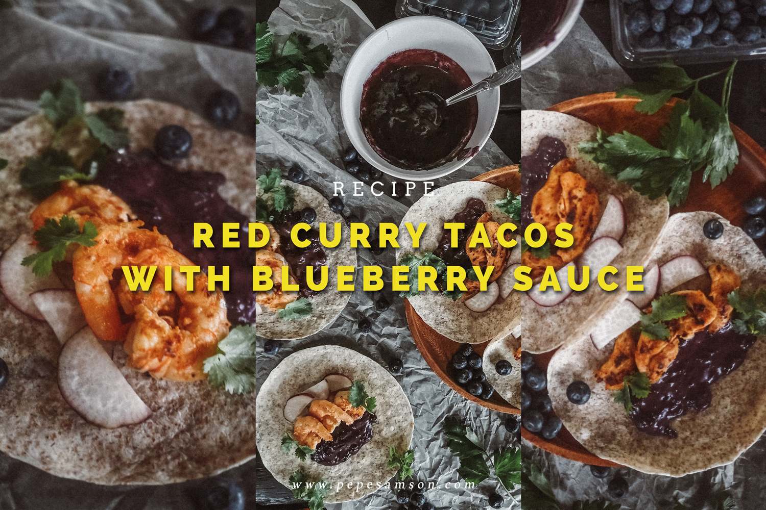 Recipe: Red Curry Tacos with Blueberry Sauce