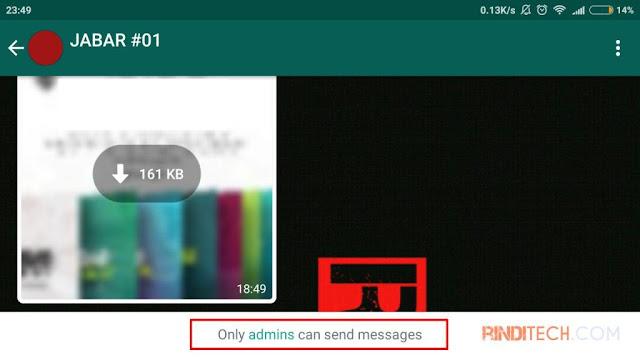 Cara Agar Hanya Admin yang Bisa Posting di Group WhatsApp