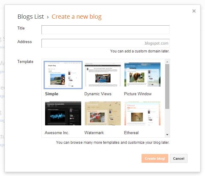 yaitu dua hal yang wajib diisi untuk menciptakan sebuah blog Cara Memilih Judul dan Alamat Blog (SEO)
