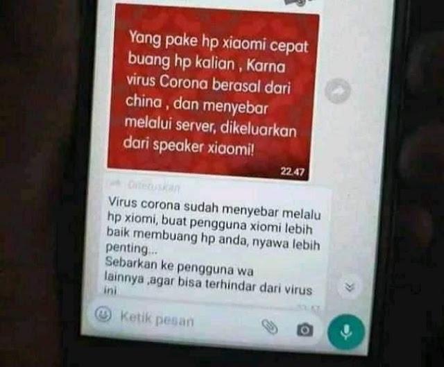 Benarkah Virus Corona Bisa Menyebar via Ponsel Xiaomi?