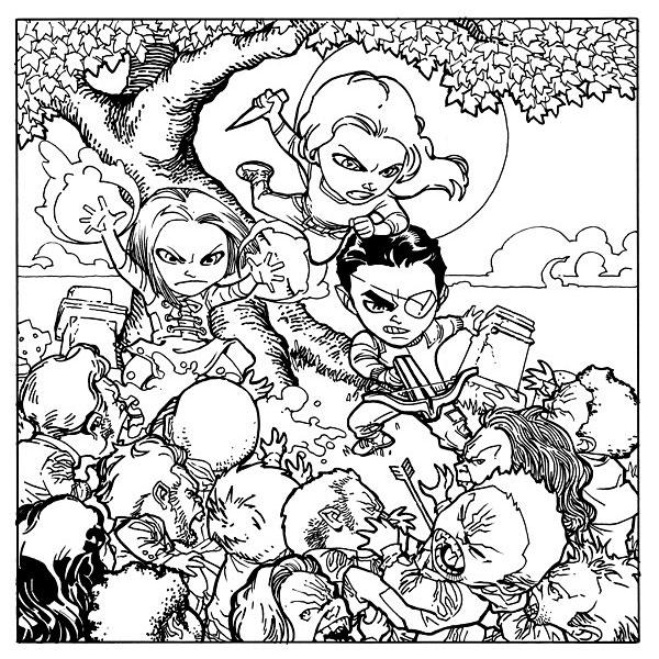 Océanos de Páginas: Libros de colorear de Buffy Cazavampiros
