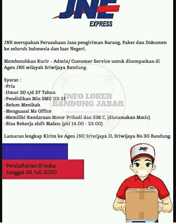 Loker Jne Bandung : loker, bandung, Lowongan, Kerja, Express, Bandung, LOKER, Informasi