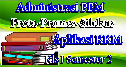 Administrasi PBM K13 Kelas 1 Semester 2