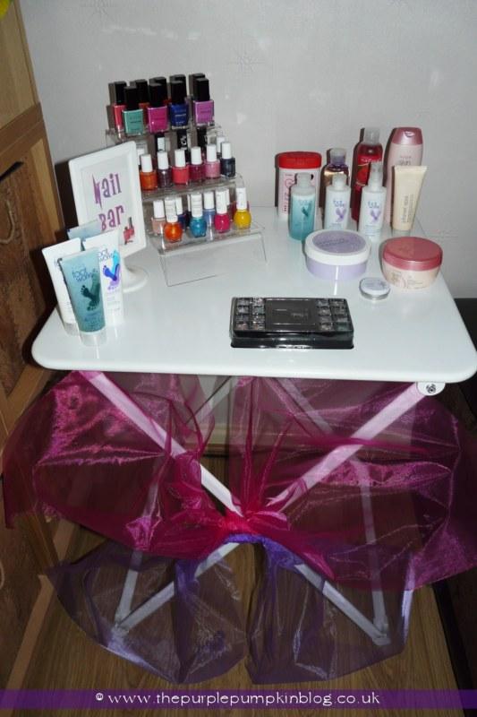 At Home Spa & Nail Bar at The Purple Pumpkin Blog
