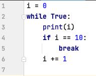 break statement in while loop - Python
