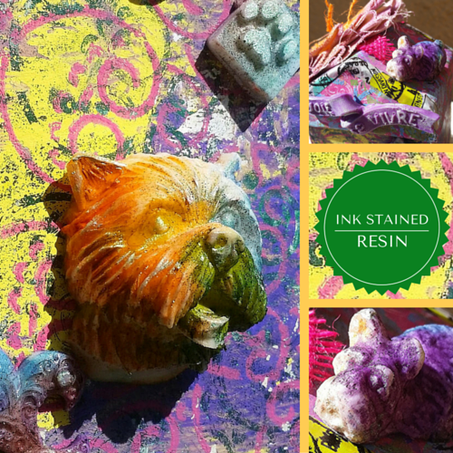 Tanya Ruffin with Amazing Casting Products: Ink stained resin tie dye