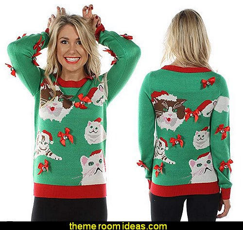 Women's Crazy Cat Lady Sweater - Funny Cat Ugly Christmas Sweater  ugly sweaters - Christmas ugly sweaters  - decorate yourself - womens ugly sweaters - ugly mens sweaters - embellished ugly sweaters - fun sweaters - novelty sweaters - Christmas party sweaters - quirky party sweaters -