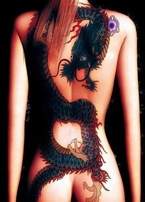 dragon tattoo on a woman's body