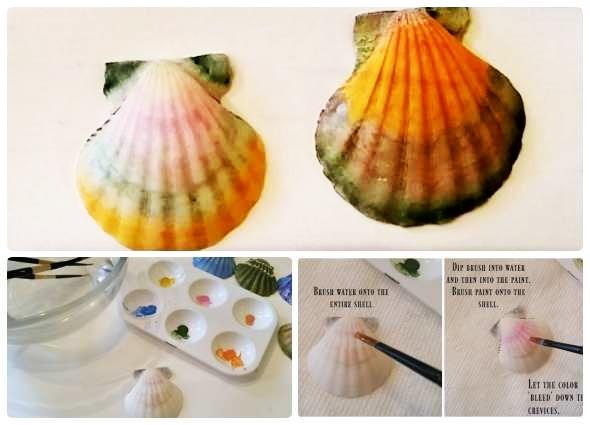 decorar conchas marinas, manualidades conchas mar
