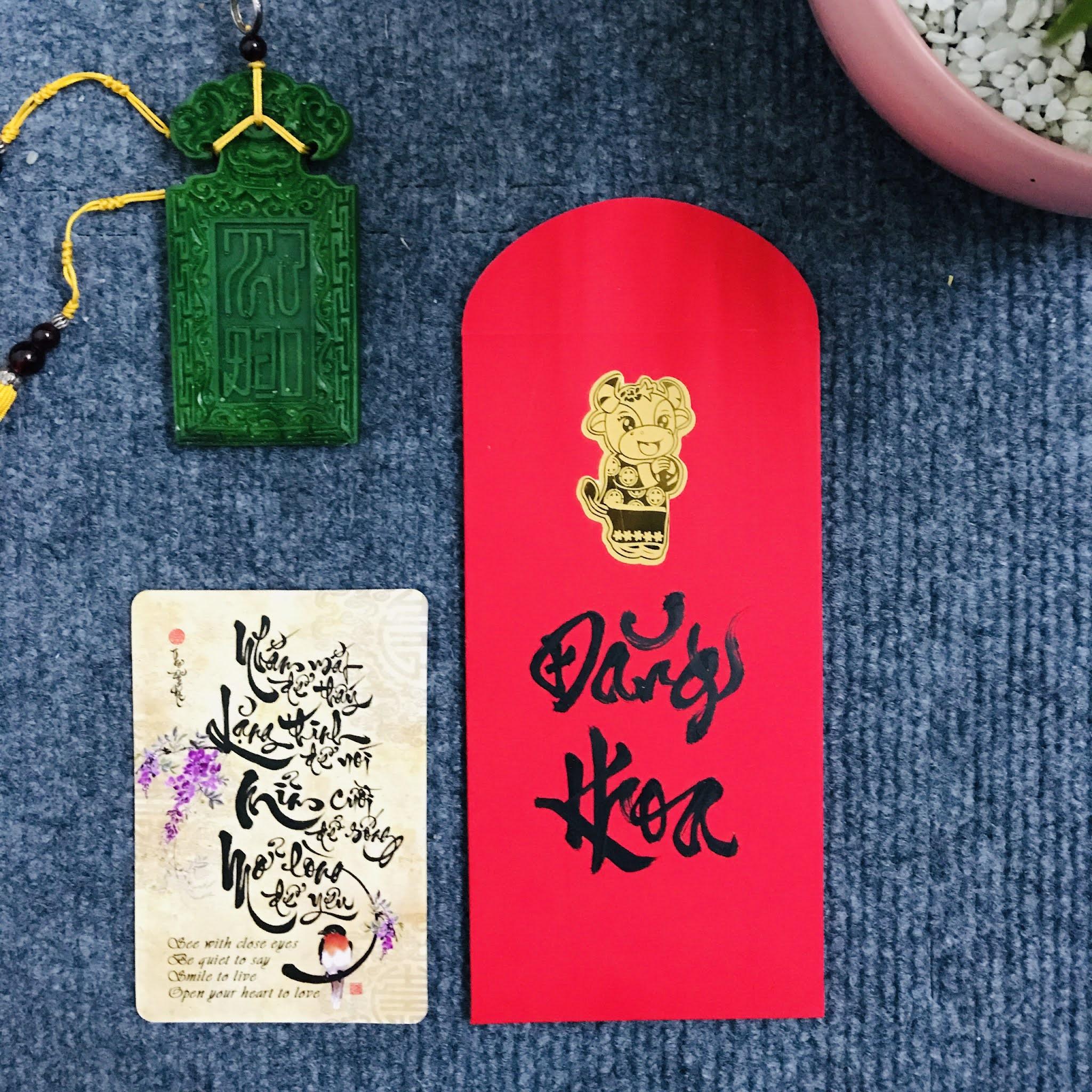 Mẫu lì xì Tết đẹp độc lạ - Thư pháp Thanh Phong