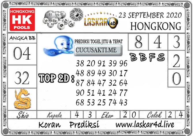 Prediksi Togel HONGKONG LASKAR4D 23 SEPTEMBER 2020