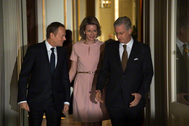 King Philippe and Queen Mathilde met with European Council President