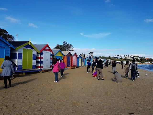 【墨尔本景点】 Brighton Bathing Boxes| 彩色屋打卡好好玩