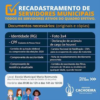 Imagem de aviso do boletim afirmativo da prefeitura da Cachoeira Bahia