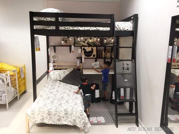 Aku Bukan Bidadari Projek Bilik Tidur Anak Stora Loft Bed Ikea Katil Anak2