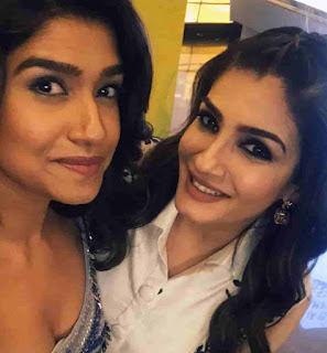 Rasika Sunil With Raveena Tandon
