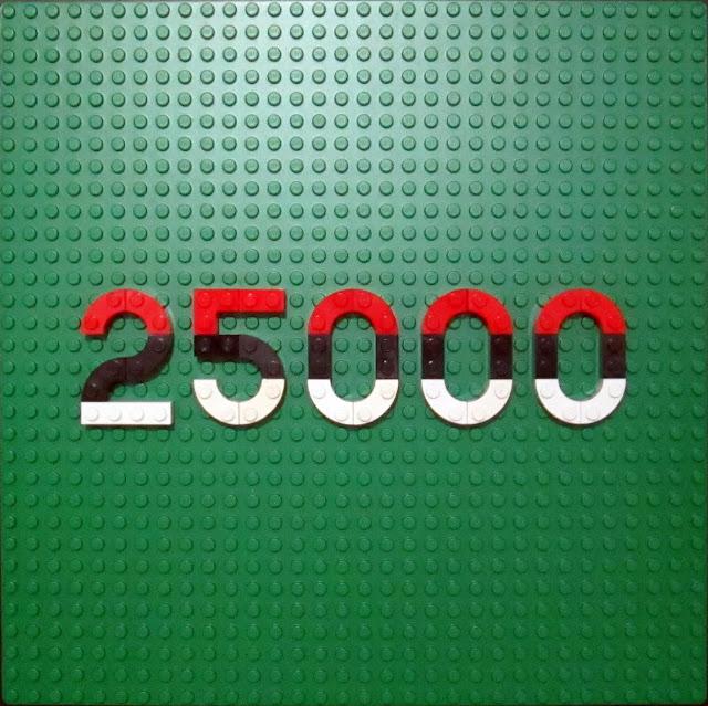 MOC LEGO painel para assinalar as 25000 visitas ao meu blogue