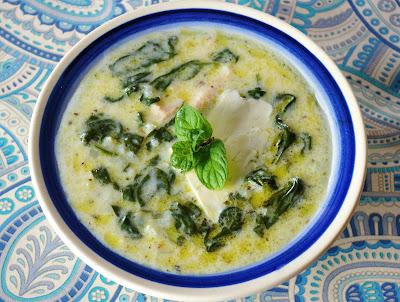 zupa szpinakowo-jogurtowa, egipska zupa szpinakowa