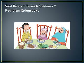 Soal Tematik Kelas 1 Tema 4 Subtema 2 Keluargaku
