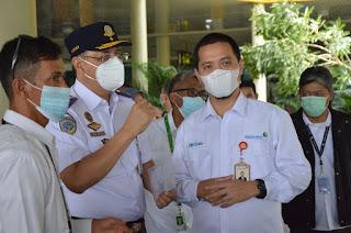 Kadis Perhubungan Provinsi Jambi Menghadiri Uji Coba dan Simulasi GeNose C19 di Bandara Sultan Thaha Jambi.