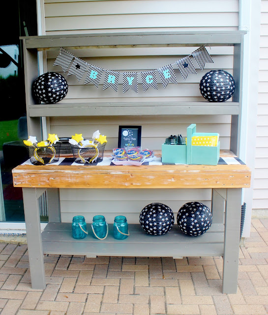 potting bench serving station