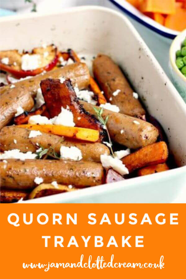 Quorn Sausage Traybake #quornsausage #quorn #vegetarian #traybake #easymeals