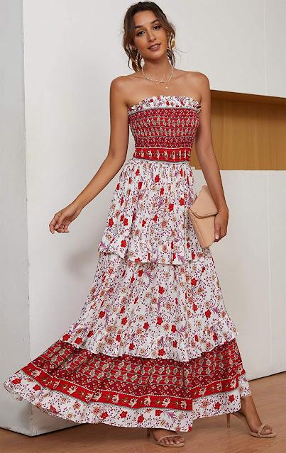 Best Strapless Maxi Dresses For Women