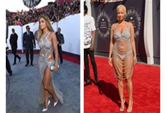 Jlo and Amber Rose Dress on MTV Awards