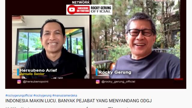 Sindir Jokowi, Rocky Gerung: Otak Kalau Menghasilkan Kelucuan itu Berarti Otaknya <i>Malfunction</i>