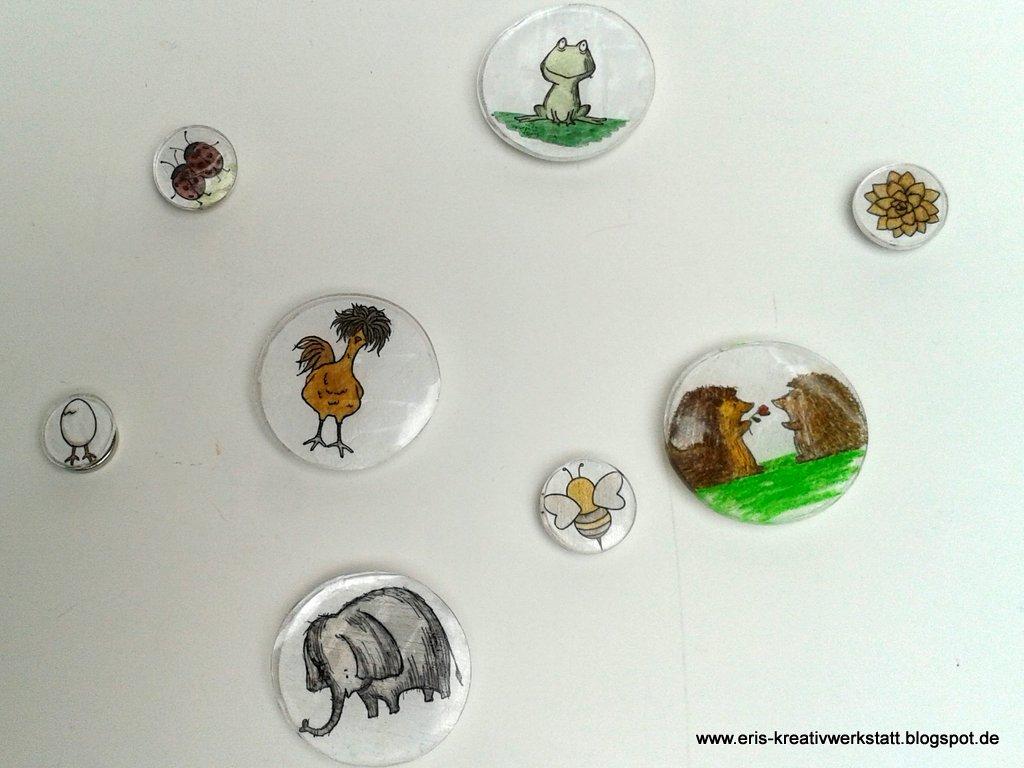 """eri's kreativwerkstatt: tierische magnete mit schrumpffolie, """"das"""
